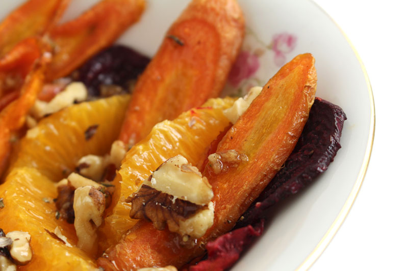 Roasted Beet and Carrot Salad